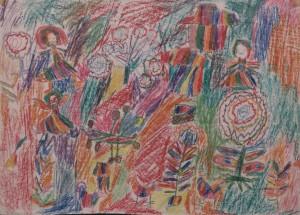 """""""Les enfants jouent au village"""" Mexique. Chiapas. 1984. Collection ERM."""