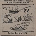Rébus, revue Fillette 1919