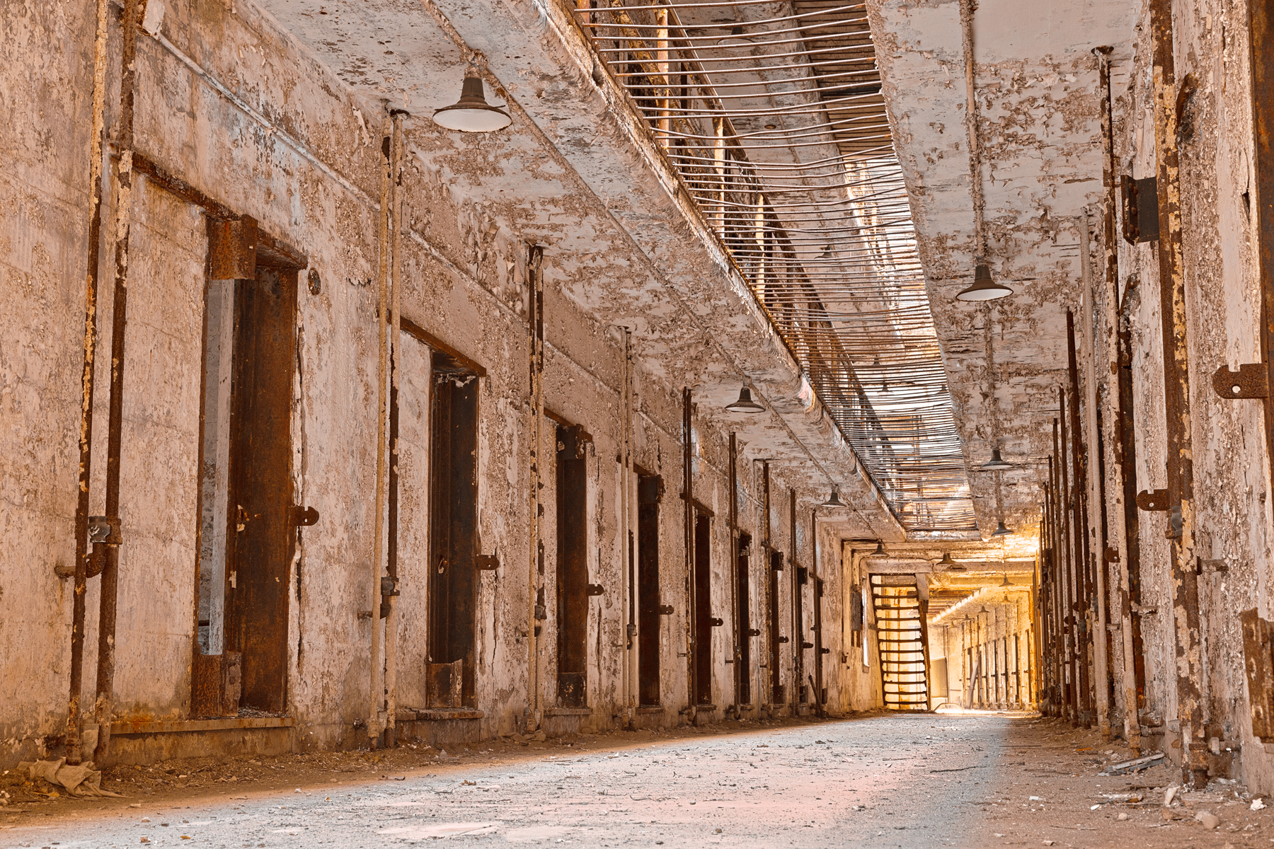 Glowing Prison corridor (Philadelphia, USA)