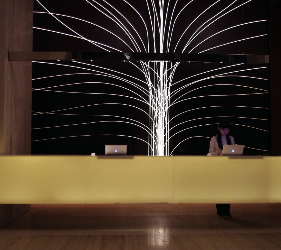 Réception d'un hôtel de Hong Kong