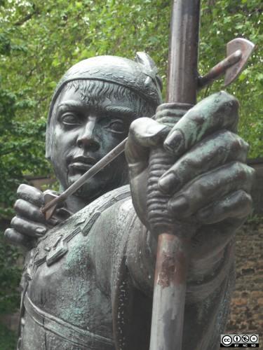 Statue de Robin des bois à Nottingam